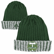 Portland Timbers adidas Captains Cuffed Knit Hat - Green