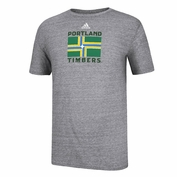 Portland Timbers adidas City Flag Triblend Tee - Grey