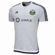 Portland Timbers adidas Climacool&reg 2015 Short Sleeve Pregame Training Top - Grey