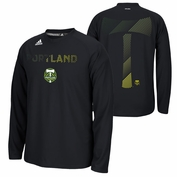 Portland Timbers adidas Climalite&reg Wavespeed Performance Long Sleeve Tee - Black