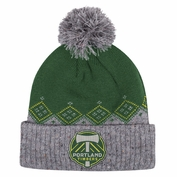Portland Timbers adidas Cuffed Winter Pom Knit Hat - Green