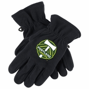 Portland Timbers adidas Fleece Gloves - Black