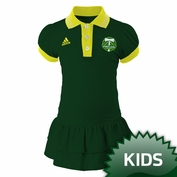 Portland Timbers adidas Kids Angle Ruffled Polo Dress - Green