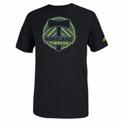 Portland Timbers adidas Neon Color Pop Tee - Black