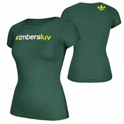 Portland Timbers adidas Originals Women's All The Buzz Tee - Green