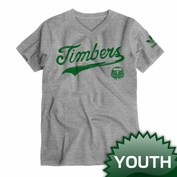 Portland Timbers adidas Originals Youth Sweeper V-neck Tee - Grey