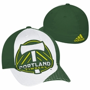 Portland Timbers adidas Oversized Logo Structured Flex Cap - Green/White
