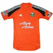 Portland Timbers adidas Personalized Authentic Short Sleeve Goalkeeper Jersey - Orange