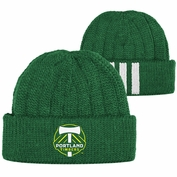 Portland Timbers adidas Player Cuffed Knit Beanie Hat - Green