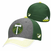 Portland Timbers adidas Secondary Authentic Team Structured Flex Cap - Grey