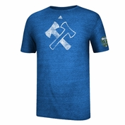 Portland Timbers adidas Stand Together Flag Blue Triblend Tee - Blue