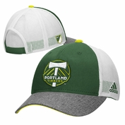 Portland Timbers adidas Team Structured Mesh Back Adjustable Cap - Green/White