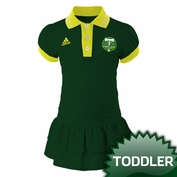 Portland Timbers adidas Toddler Angle Ruffled Polo Dress - Green