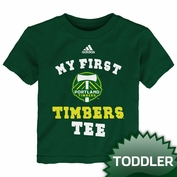 Portland Timbers adidas Toddler 'My First' Timbers Tee - Green