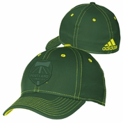 Portland Timbers adidas Tonal Primary Logo Structured Flex Cap - Green