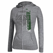 Portland Timbers adidas Women's Full Zip Hooded Tee - Grey