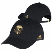 Portland Timbers adidas Women's Gold Foil Adjustable Slouch Cap - Black