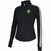 Portland Timbers adidas Women's Outerwear Full Zip Fleece - Black