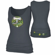Portland Timbers adidas Women's Pump It Up Banded Tank - Storm