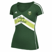 Portland Timbers adidas Women's Short Sleeve Club Top - Green