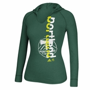Portland Timbers adidas Women's Split Decision Long Sleeve Hood Tee - Green