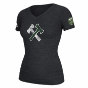 Portland Timbers adidas Women's Stand Together V-neck Tee - Charcoal