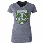 Portland Timbers adidas Women's Supersize Fan Tee - Grey
