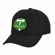 Portland Timbers adidas Youth Adjustable Slouch Cap - Black