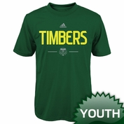 Portland Timbers adidas Youth Authentic MLS Climalite&reg Tee - Green
