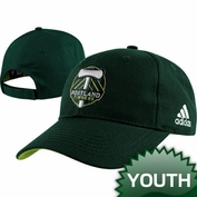Portland Timbers adidas Youth Basic Logo Cap - Green