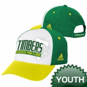Portland Timbers adidas Youth Colorblock Adjustable Cap - White/Green