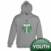 Portland Timbers adidas Youth Distressed Logo Hoody - Grey