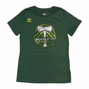 Portland Timbers adidas Youth Girls Primary Logo Tee - Green