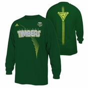 Portland Timbers adidas Youth MLS New Age Long Sleeve Tee - Green