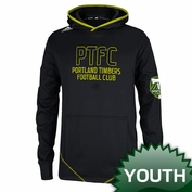 Portland Timbers adidas Youth PTFC Pitchback Pullover Hoody - Black