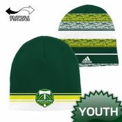 Portland Timbers adidas Youth Reversible Jacquard Knit Beanie - Green