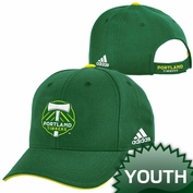 Portland Timbers adidas Youth Structured Adjustable Cap - Green