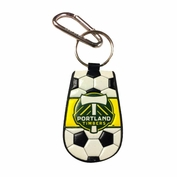 Portland Timbers Classic Soccer Keychain - Black/White