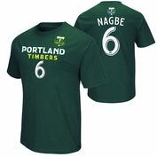 Portland Timbers Darlington Nagbe #6 Name & Number Tee - Green