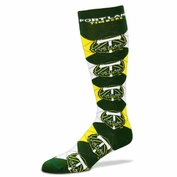 Portland Timbers For Bare Feet Argyle Team Logo Socks - Green/Yellow