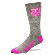 Portland Timbers For Bare Feet Pink Logo Socks - Grey/Pink
