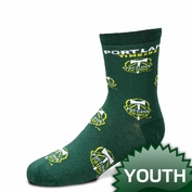 Portland Timbers For Bare Feet Youth Print Socks - Green