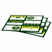 Portland Timbers Gift Tag Stickers - Green/Yellow