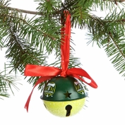 Portland Timbers Glitter Bell Ornament - Green/Yellow