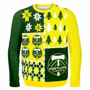Portland Timbers Holiday Ugly Sweater - Green/Yellow