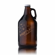 Portland Timbers Keyscaper Gold Wordmark Growler - Brown