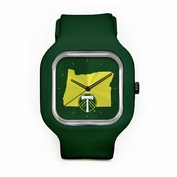 Portland Timbers Modify Secondary Logo State Face Watch - Green