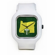 Portland Timbers Modify Secondary Logo State Face Watch - White