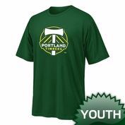 Portland Timbers Ouray Youth Primary Logo Tee - Green