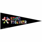 Portland Timbers & Portland Thorns FC WinCraft Stand Together Diversity Pennant - Black